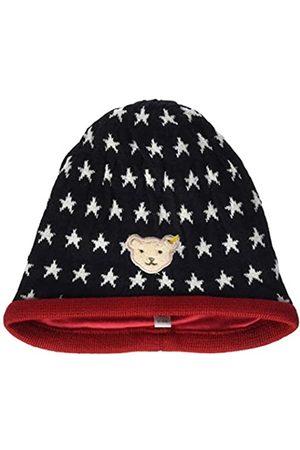 Steiff Baby-Mädchen mit süßer Teddybärapplikation Mütze, Navy