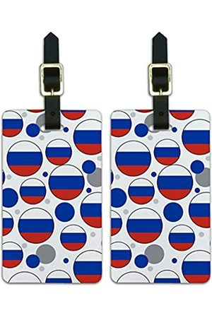 Graphics and More Graphics & More O-s-Russland Nationalflagge (Weiß) - Luggage.Tags.09671