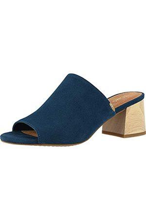 TOMS Damen Majolica Blue Suede Grace Pantoletten Sandalen
