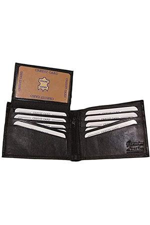Improving Lifestyles Improving Lifestyles SUN1224BK Herren Geldbörse aus Leder, mit abnehmbarem Sichtfenster