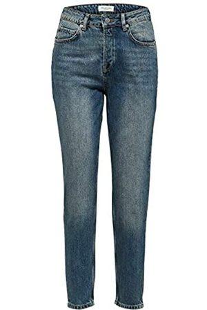 SELECTED Female Mom Jeans High Waist - 3232Medium Blue Denim