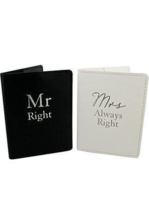 Oaktree Gifts Oaktree Gifts Mr Right & Mrs Always Right Set 2 Reisepasshüllen
