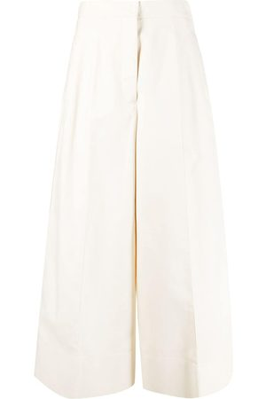 Jil Sander Wide-leg tailored cropped trousers - Nude