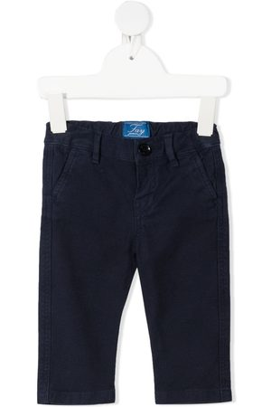 Fay Kids Embroidered-logo slim-cut trousers