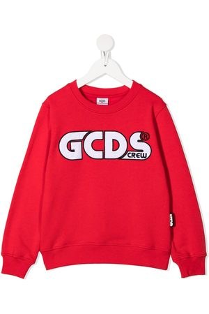 Gcds Kids Embroidered logo sweatshirt