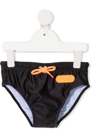 Gcds Kids Logo-print drawstring swimming trunks