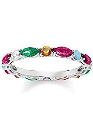 Thomas Sabo Thomas Sabo Damen-Ring Glam & Soul Farbige Steine 925 Sterling Silber Größe 52 TR2185-477-7-52