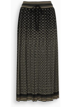 Gucci Damen Maxiröcke - Black/gold long skirt with GG motif