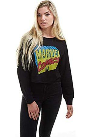 Marvel Damen Retro 3D Logo Cropped Sweatshirt Pullover