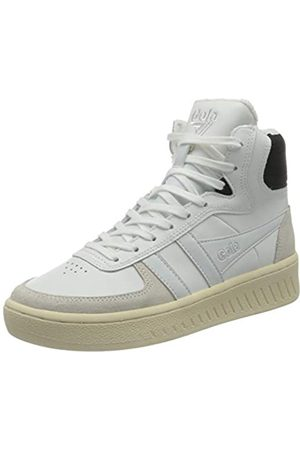 Gola Damen Slam High Sneaker, White/Black/Off White