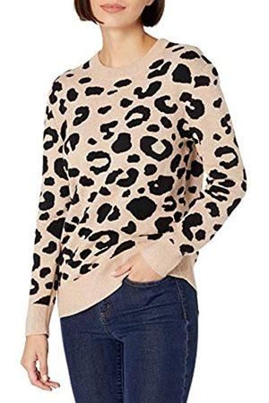 Daily Ritual Damen Strickpullover - Ultraweicher Jacquard Rundhalsausschnitt Pullover-Sweaters