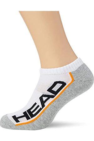 Head Unisex-Adult Performance Sneaker-Trainer Multipack Socks, White/Grey
