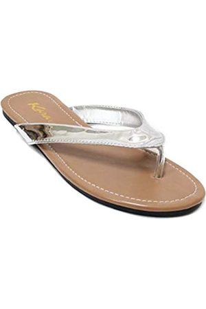 KARA Damen Classic Casual Flache Thong Flip Flops Sandalen Schuhe LS013