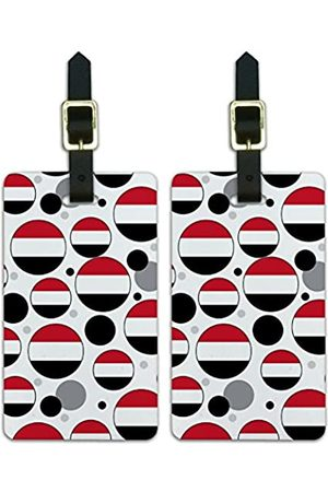 Graphics and More Graphics & More T-z-Yemen Nationalflagge (Weiß) - Luggage.Tags.09755