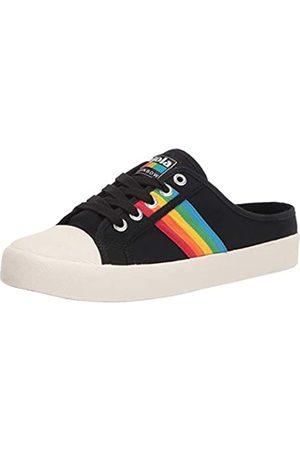 Gola Damen Coaster Rainbow Mule Sneaker, Black/Multi