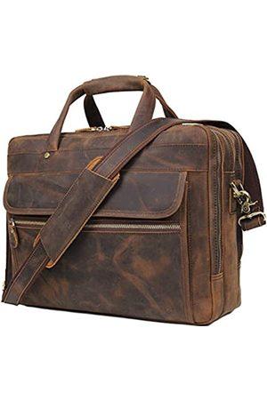 Augus Augus Leder Aktentasche für Herren Business Reise Messenger Bags 15