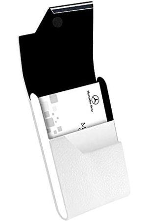 padike Padike Professioneller Visitenkartenhalter Visitenkartenetui Luxus PU Leder & Edelstahl Kartenhalter Kreditkartenetui Halten Visitenkarten in makellosem Zustand (Weiß)
