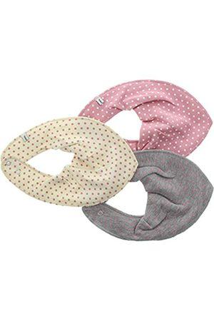 Pippi 3er Pack Baby Mädchen Halstuch mit Aufdruck, Farbe: und Grau, One Size