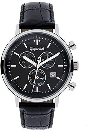 Gigandet Classico Herren-Armbanduhr Chronograph Quarz Analog Lederarmband G6-004
