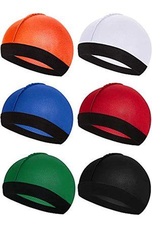 Syhood 6 Stücke Gummiband Seidige Wellen Kappen für Herren Seidenmaterial für 360 540 und 720 Wellen (Farbe 4)