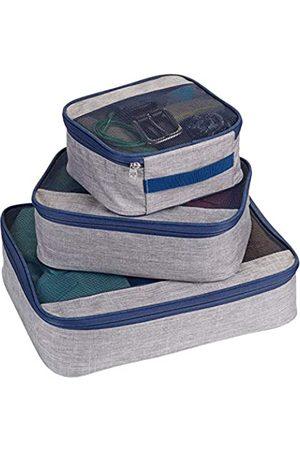 Lewis N. Clark Lewis N. Clark Packwürfel + Reise-Organizer für Gepäck, Koffer oder zum Mitnehmen, mit atmungsaktivem Netzstoff, Pink (Muster, M, L)