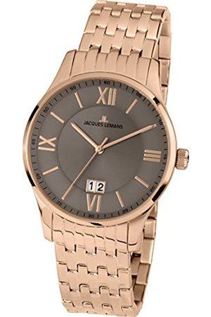 Jacques Lemans Herren Analog Quarz Smart Watch Armbanduhr mit Edelstahl beschichtet Armband 1-1845M