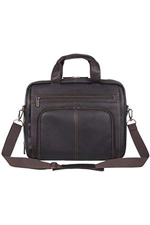 "Kenneth Cole Unisex-Erwachsene Manhattan Leather Expandable RFID 15.6"" Business Case Laptop-Tasche"