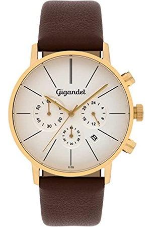 Gigandet Minimalism Herren-Armbanduhr Chronograph Quarz Analog mit Lederarmband G32-003