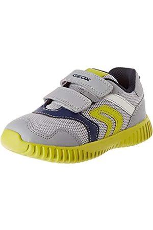Geox Baby-Jungen B Waviness Boy A Sneaker, (Grey/Navy C0665)