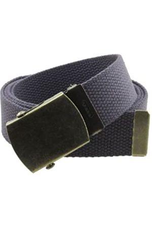 BC Belts Gürtel aus Segeltuch im Militär-Stil, mit Schnalle aus antikem Messing und Spitze