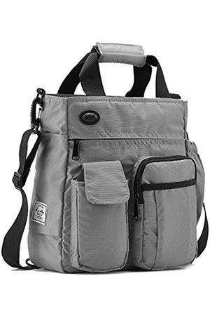 d'yallee Crossbody Messenger Bag Herren Wasserdichte Schulter Business Arbeitstasche Nylon (grau)