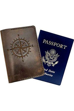 5MOONSUN5 5MOONSUN5 Reisepasshülle aus echtem Vollnarbenleder, Geldscheinhülle, Geschenk für Reisende, Reisepasshülle, Geschenk für Sie oder Ihn, Geschenk für Paare