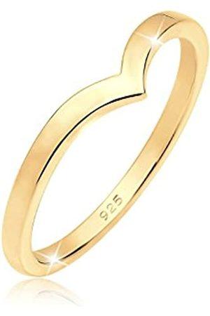 Elli Elli Ring Damen V-Form Geo Stacking in 925 Sterling Silber