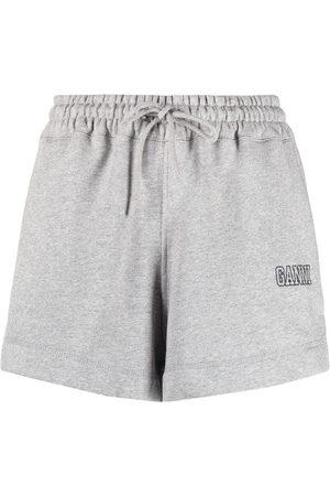 GANNI Shorts mit Logo-Stickerei