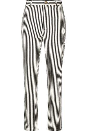 Philosophy Di Lorenzo Serafini Vertical-stripe cropped trousers