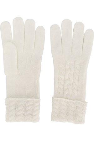N.PEAL Handschuhe mit Zopfmuster