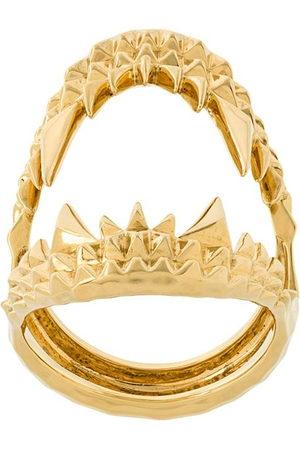 Kasun London Vampire Biter' Ring aus vergoldetem Sterlingsilber - Metallisch