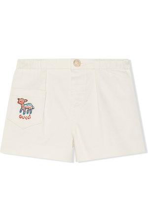 Gucci Kids Shorts mit aufgesticktem Lamm