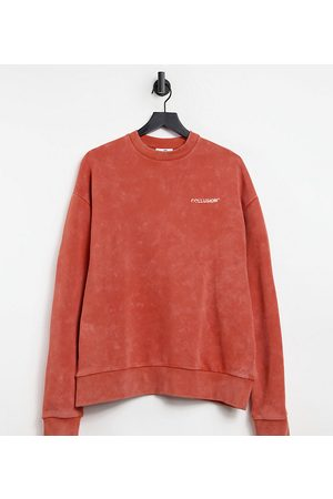 Collusion Unisex – Oversize-Sweatshirt in orangener Acid-Waschung