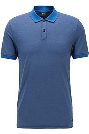 HUGO BOSS BOSS Herren PLike Poloshirt aus strukturierter Baumwolle mit Streifen an Kragen und Ärmelbündchen