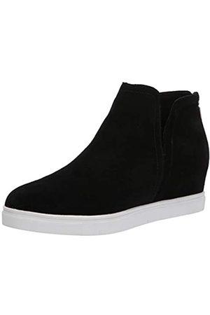 Blondo Damen Sneaker mit Keilabsatz, (Schwarze Velourslederoptik)