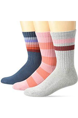 Goodthreads Herren Socken & Strümpfe - 3er-Pack gestreifte, gerippte Crew casual-socks