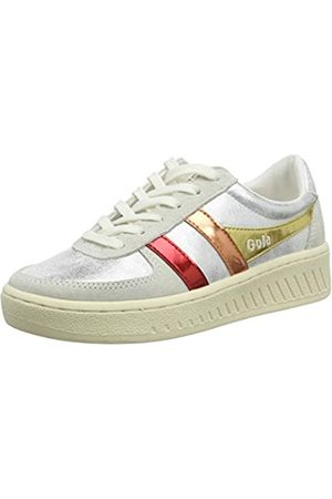 Gola Damen Grandslam Shimmer Flare Sneaker, (Silver/Multi Jz)