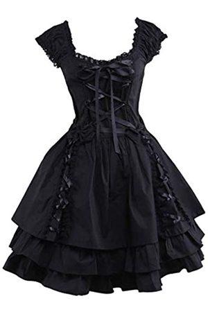 Ainclu Ainclu Klassisches Lolita-Kleid für Damen, mit Schnürung