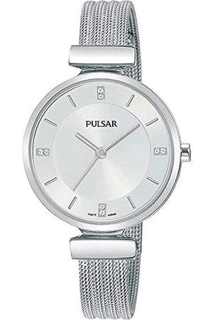 Pulsar Pulsar Quarz Damen-Uhr Edelstahl mit Metallband PH8467X1