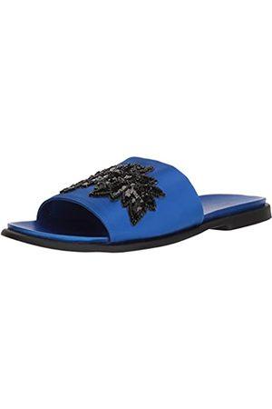 Kenneth Cole REACTION Women's Jel-OUS Embellished Slip On Slide Sandal, Cobalt