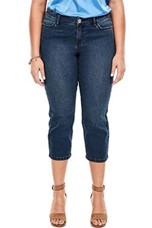 s.Oliver TRIANGLE Damen Slim Fit: Cropped-Stretchjeans dark blue stretche 52