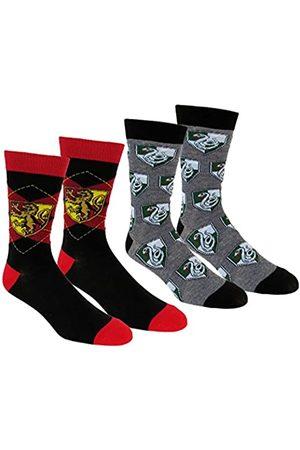 Harry Potter Slytherin & Gryffindor Herren Socken, 2 Paar