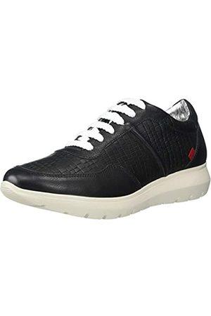 Marc Joseph New York Damen Leather Luxury Fashion Sneaker Wedge Turnschuh, Schwarzer Nappa Soft/Krokodil