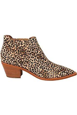 Dolce Vita Damen SHANA modischer Stiefel, Hellbraun/ gestaubtes Leoparden-Wildleder